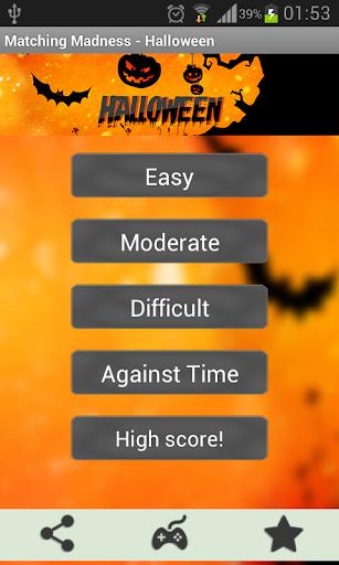 Matching Madness - Halloween