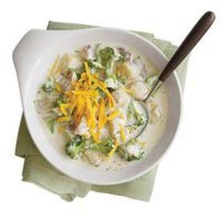 Cheesy Broccoli Potato Soup.