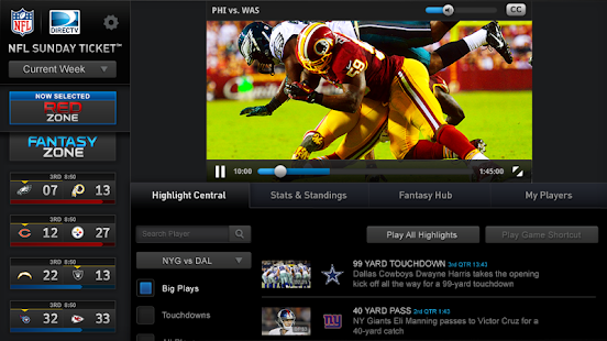NFL Sunday Ticket for Tablets - screenshot thumbnail
