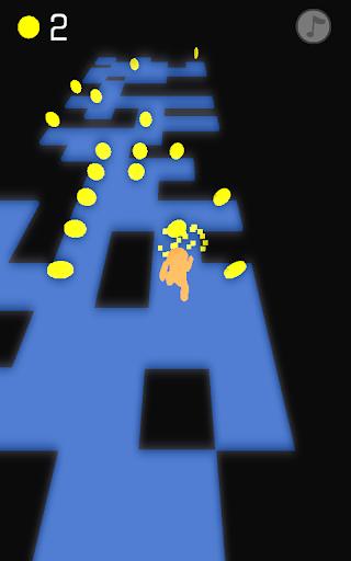3D Glow Man Tile Jump Runner