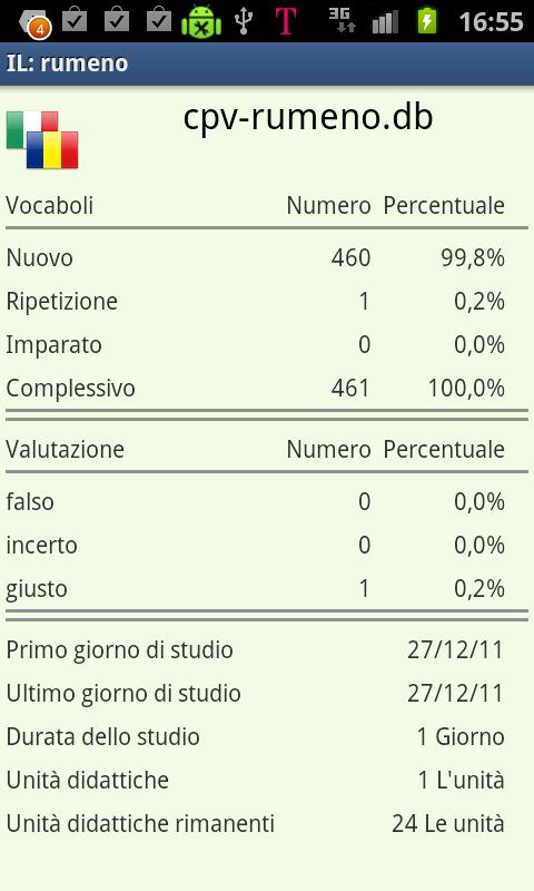 Imparare il rumeno- screenshot