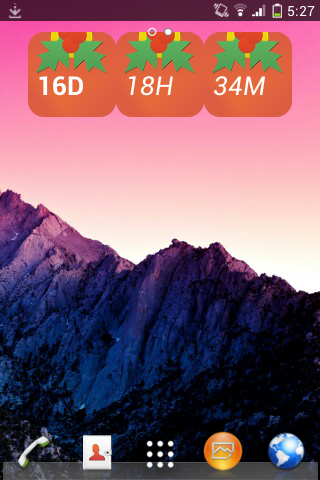 New Year widget
