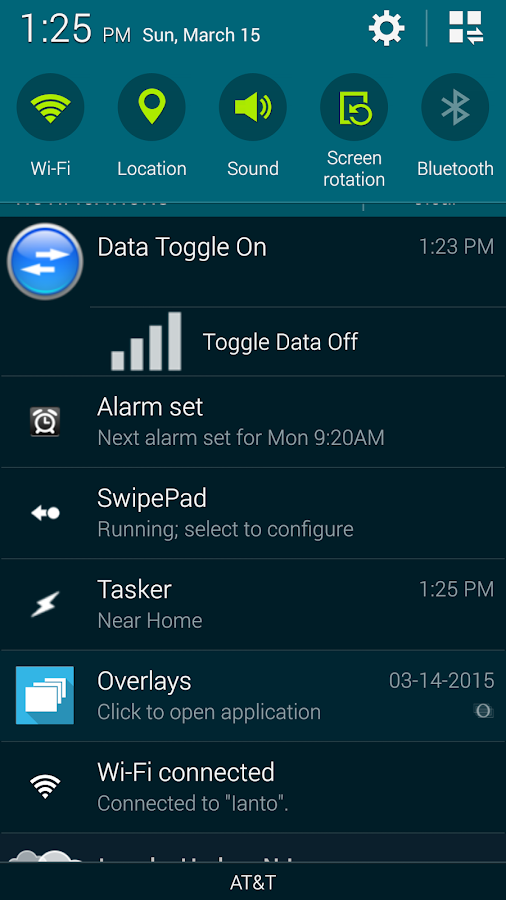 Mobile Data Toggle- screenshot