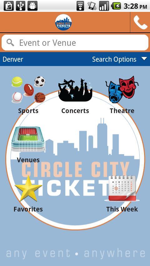 Circle City Tickets - screenshot