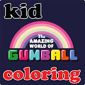 kid gumball coloring