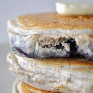 Blueberry Flax Pancakes.