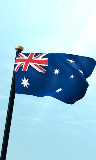 澳大利亞旗3D免費動態桌布