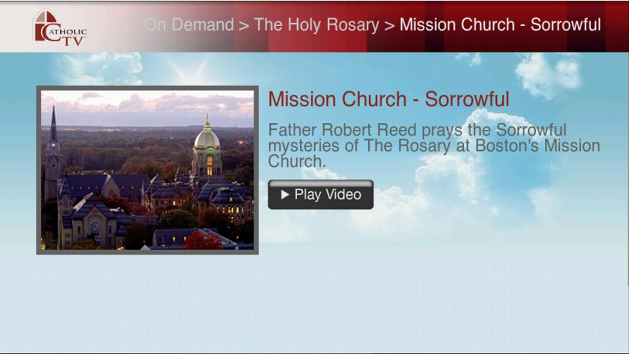 CatholicTV for Google TV- screenshot
