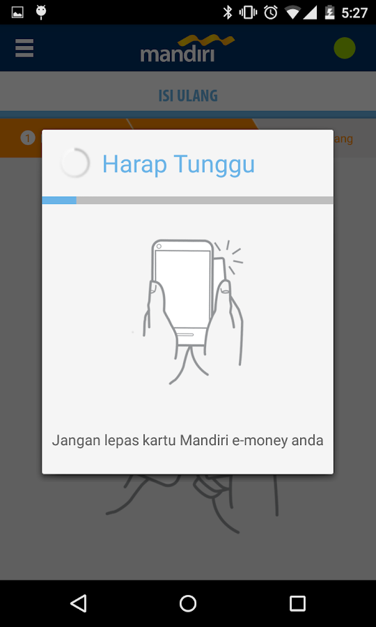 mandiri e-money isi ulang- screenshot