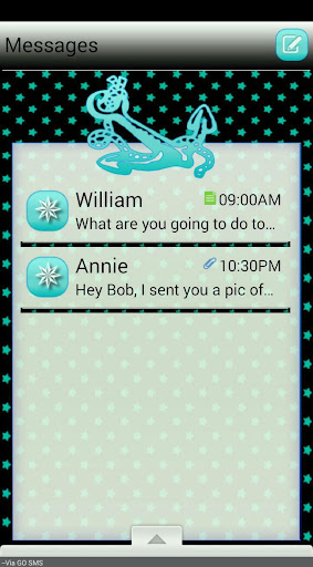 AnchorsNStars GO SMS THEME