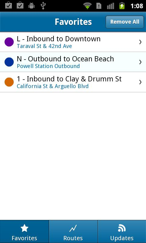 Muni Tracker - screenshot