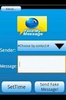 Screenshot of Fake My Message