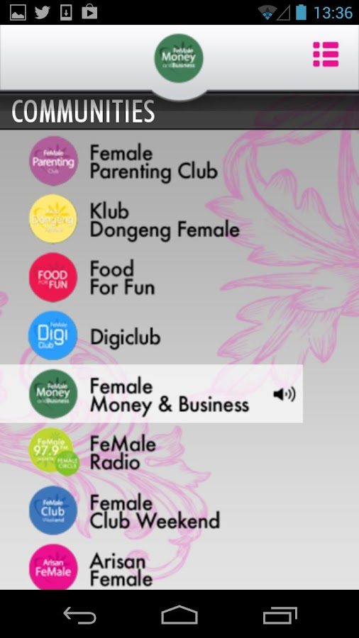 FeMale Radio - screenshot