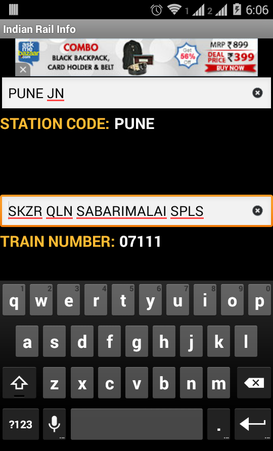 Indian Rail- screenshot