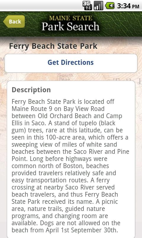 ParkSearch - screenshot