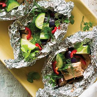 Tofu and Eggplant Hobo Bundles