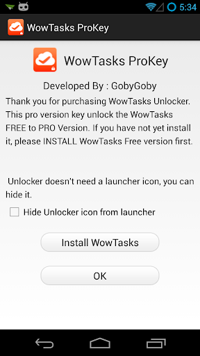 WowTasks To-do List Unlock Key