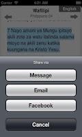 Screenshot of Bible in Swahili Free
