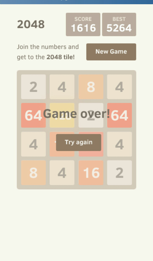 A 2048 PUZZLE- screenshot