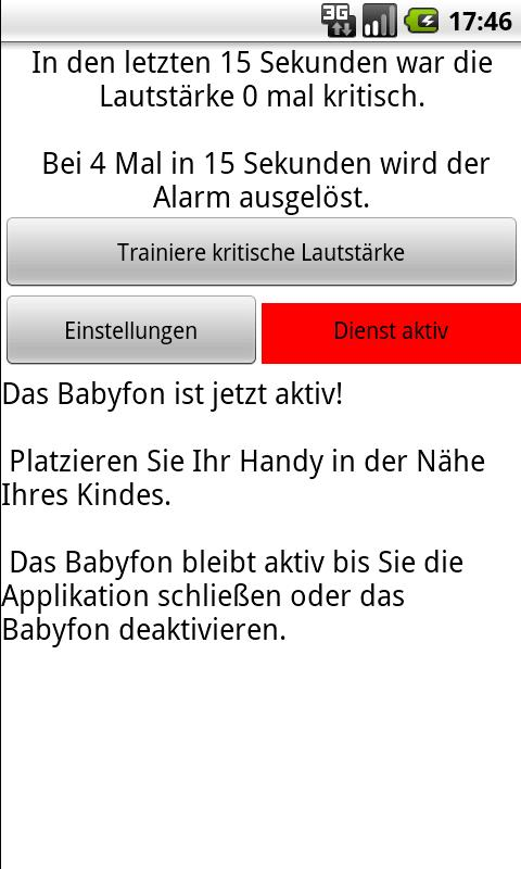 Babyphone - screenshot