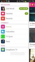 Screenshot of EntertaiNOW TV Mobile