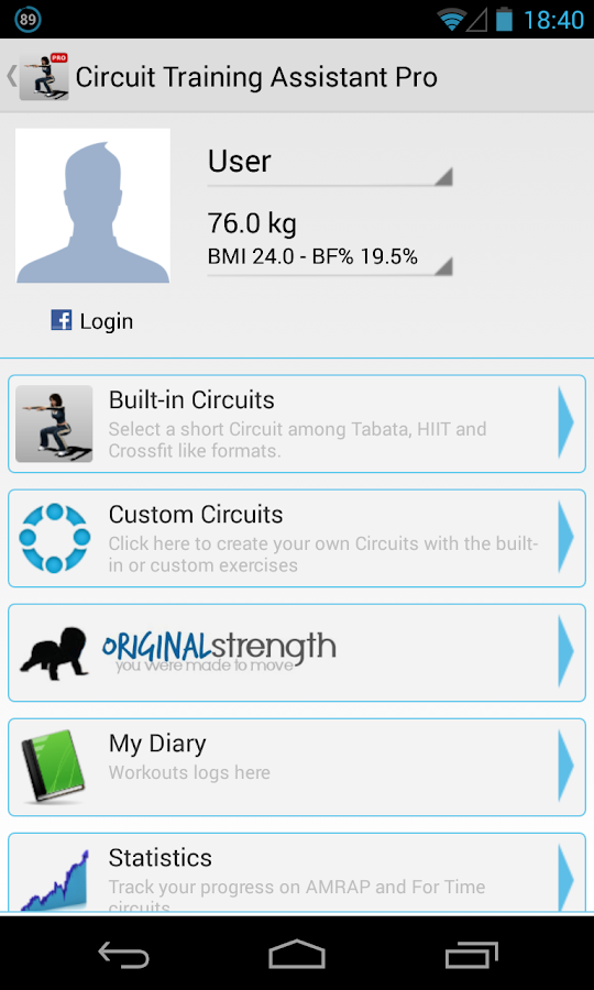 Circuit Training Assistant Pro - screenshot