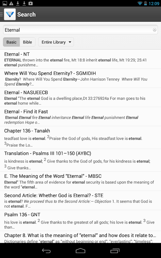 Verbum Catholic Bible Study - screenshot