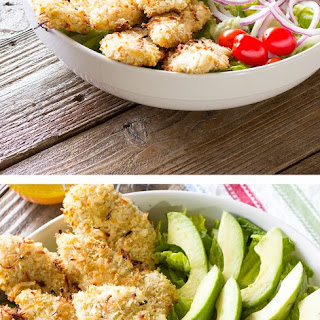 Tropical Salad with Coconut Chicken and Pineapple Vinaigrette Recipe