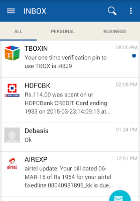 TBOX - Clean and Organized SMS - screenshot