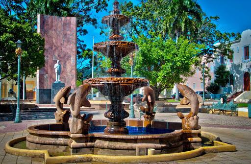 A fountain in Fajardo in northeast Puerto Rico.