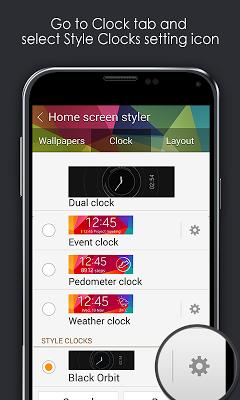 Black Orbit Clock - screenshot