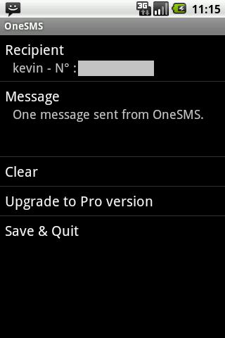 One SMS- screenshot