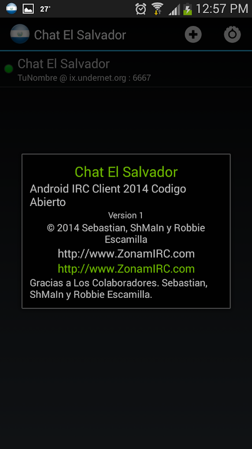 Chat El Salvador- screenshot