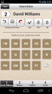 Golf Score Card - YOUR GOLF - screenshot thumbnail