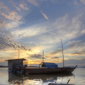 Parking Boats in The Morning by Rizki Mayendra - Transportation Boats