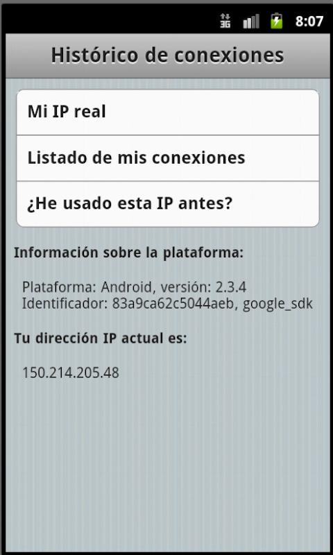 Mi IP - screenshot