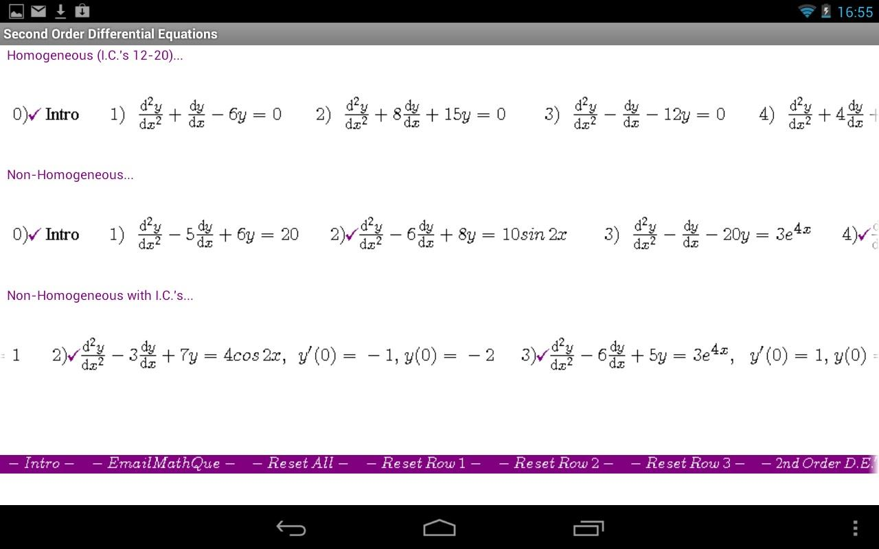 Differential Equations II - screenshot