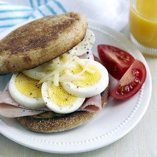 Microwave Egg & Ham Muffin.