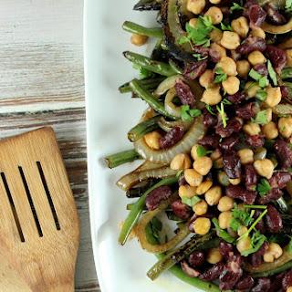 Grilled Balsamic Three Bean Salad.