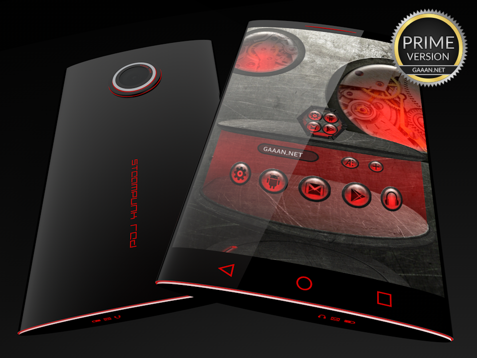 Steampunk Red - Next Theme- screenshot
