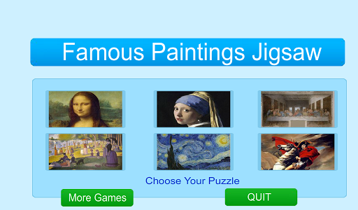 Famous Paintings Jigsaw