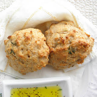 Olive Oil and Herb Drop Biscuits.