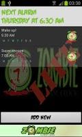 Screenshot of Zombie Alarm Clock LITE