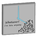 Whatever,I'm Late Analog Clock icon