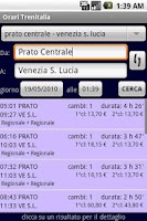 Screenshot of Italian Trains Timetable PLUS