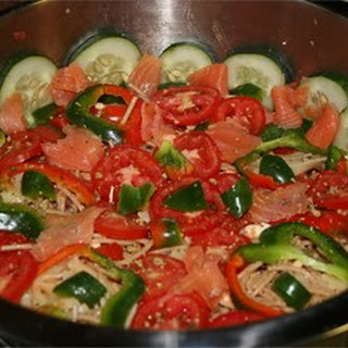 Holly's Smoked Salmon Pasta Salad.