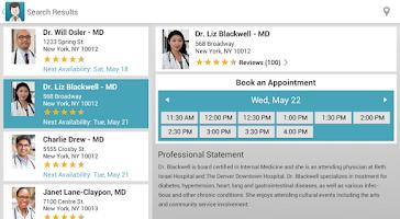 Screenshot of ZocDoc - Book a Doctor Online!