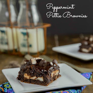 Peppermint Pattie Brownies.