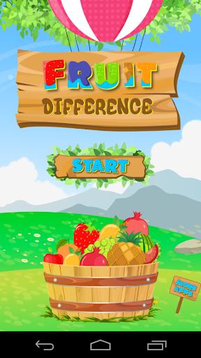尋找差異 - 水果