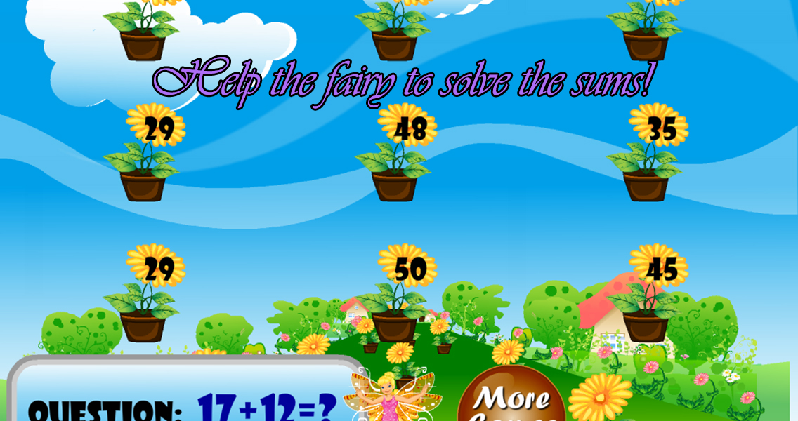 Fairy elementary math game - screenshot